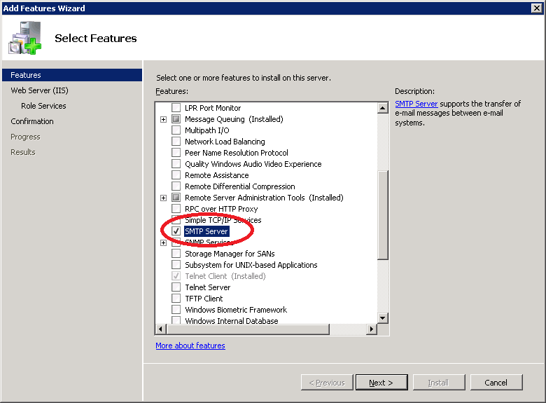 Set up SMTP Relay for Office 365 with Windows Server 2008 R2 – Console